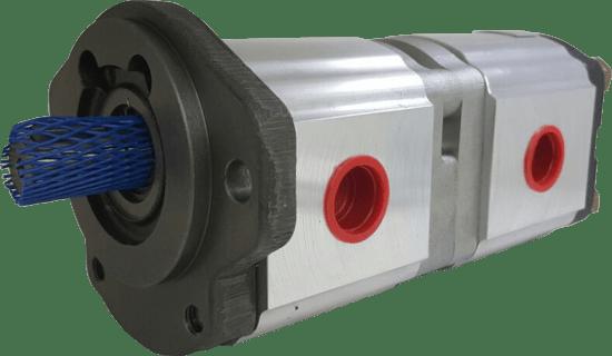 Bomba Hidráulica Industrial Dupla 4 + 4 cm3/rot